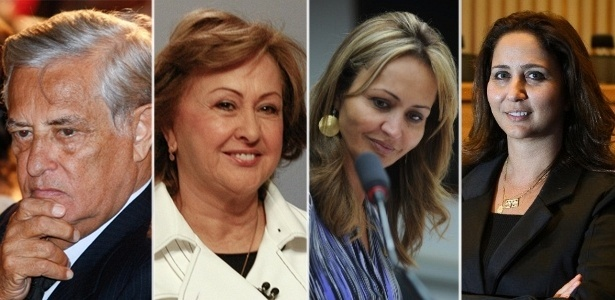 Joaquim, Weslian, Jaqueline e Liliane Roriz formam clã político no DF
