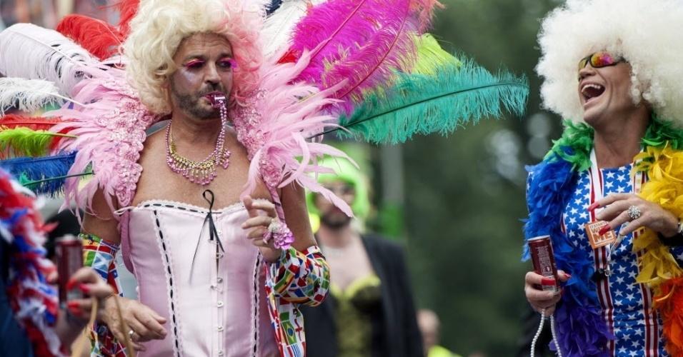 2.ago.2014 - Moradores de Brighton, no Reino Unido, participaram neste sábado (2) da Parada do Orgulho LGBT (Lésbicas, Gays, Bissexuais e Transgêneros)