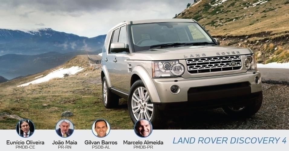 A Land Rover Discovery 4 é a escolha de cinco candidatos