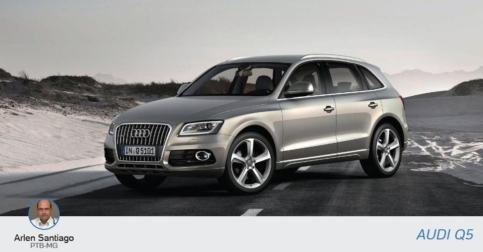 Arlen Santiago (PTB-MG), candidato a deputado estadual, declarou ao TSE um Audi Q5 Turbo, no valor de R$ 222 mil