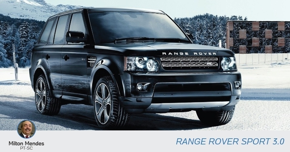 O candidato ao Senado Milton Mendes (PT-SC), declarou uma Range Rover Sport 3.0, avaliada em R$ 274 mil