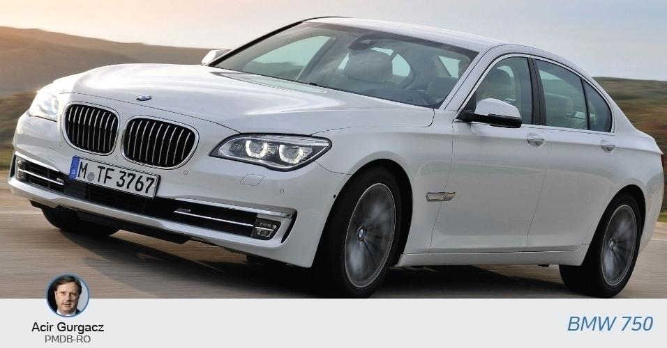O senador e candidato à reeleição Acir Gurgacz (PMDB-RO), tem uma BMW 750, com valor declarado de R$408.050