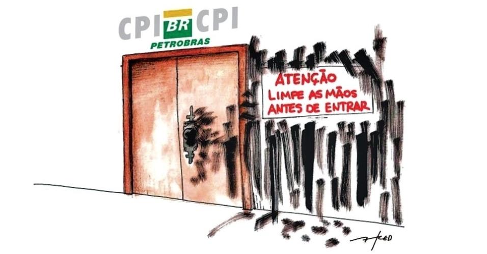 6.ago.2014 - O chargista Fred brinca com a possível fraude na CPI da Petrobras