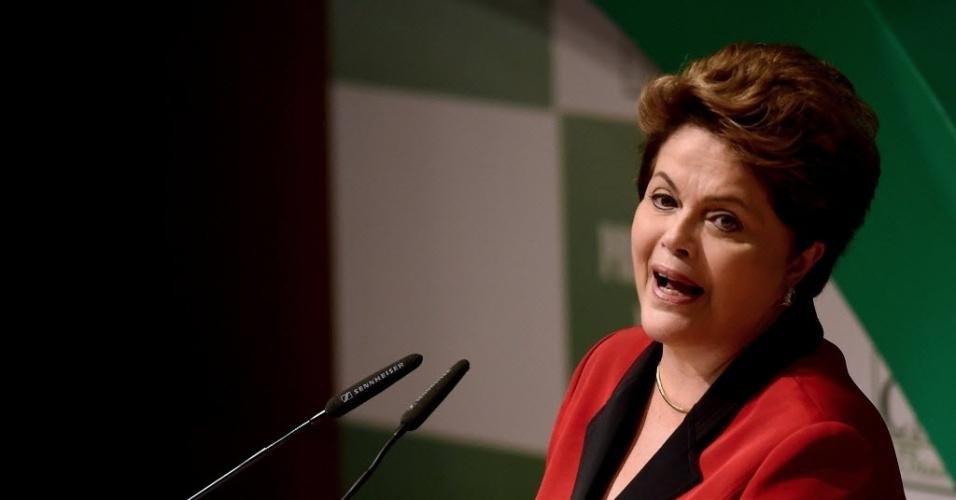 6.ago.2014 - A presidente Dilma Rousseff (PT), candidata a reeleição participou de uma sabatina promovida pela CNA (Confederação da Agricultura e Pecuária do Brasil)