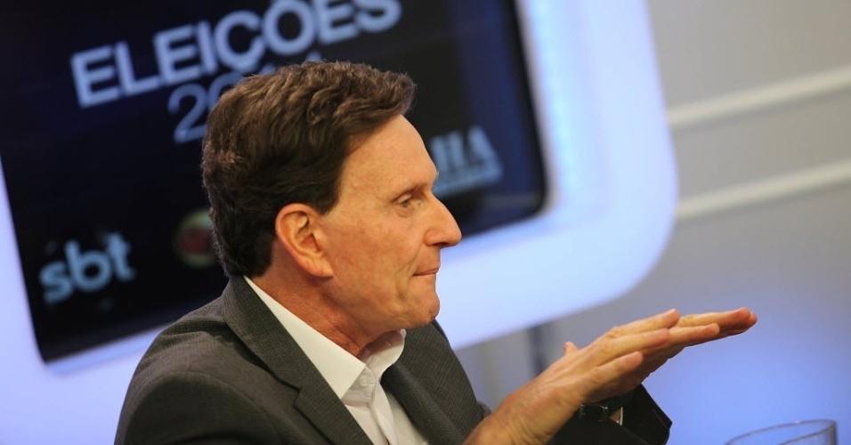 7.ago.2014 - O candidato do PRB ao governo do Estado do Rio de Janeiro, Marcelo Crivella, também argumentou que as constantes brigas entre políticos contribuem para que haja um desinteresse da população.