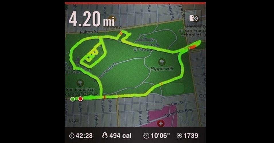 A esportista Claire Wyckoff utiliza o app Nike Running, que registra dados sobre corridas, para fazer desenhos. Ela planeja sua corrida de maneira que o trajeto crie os formatos pedidos por internautas. Os resultados são publicados no Tumblr 'Running Drawing'
