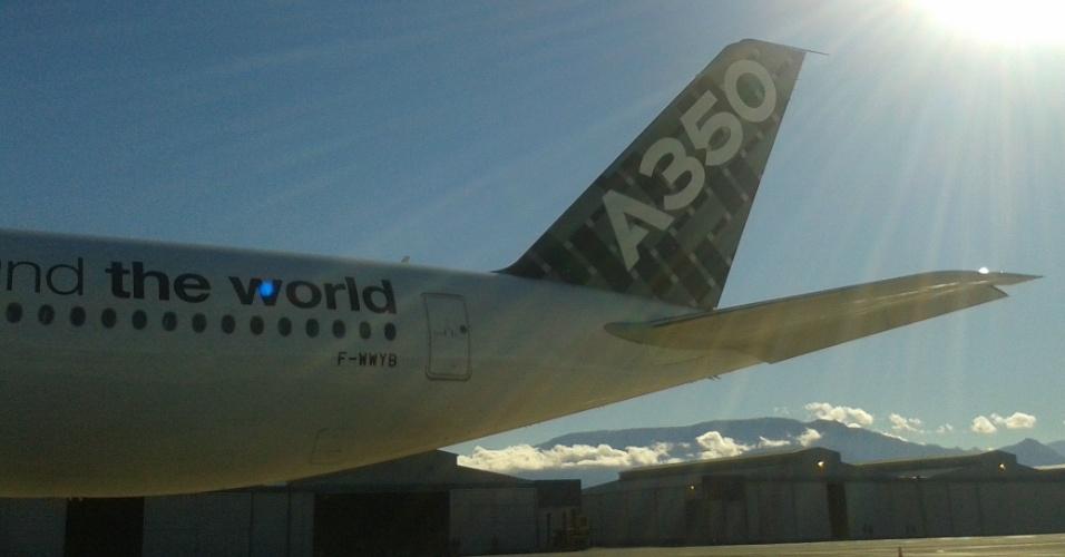A reportagem do UOL acompanhou um voo experimental do A350 XWB, da Airbus, entre Santiago (Chile) e São Paulo
