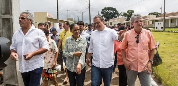 Eduardo Campos e Marina Silva visitam conjunto habitacional em João Pessoa (PB) dias antes da morte dele em um acidente de avião - Reprodução/Flickr