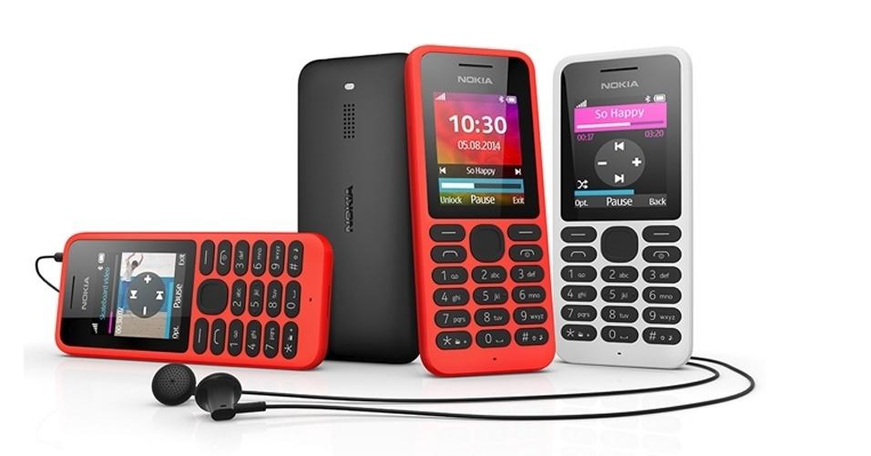 11.ago.2014 - A Microsoft anunciou o telefone celular Nokia 130. Com recursos simples, ele não roda o sistema operacional Windows Phone e não pode ser considerado um smartphone. Seu principal destaque vai para o preço: 19 euros (cerca de R$ 60). Anunciado pela empresa como o ''celular mais acessível com tocador de música e de vídeo'', ele roda conteúdo armazenado em cartão micro SD (16 horas de vídeo ou 6.000 músicas, segundo o fabricante). Também sintoniza rádios FM. O celular tem tela de 1,8 polegadas, pesa 68 gramas e não tem previsão de chegada ao Brasil
