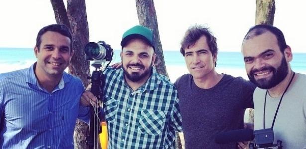 (Da esq. para dir.) Carlos Augusto Leal Filho, Marcelo Lira, e Alexandre Severo Gomes e Silva (na ponta direita)
