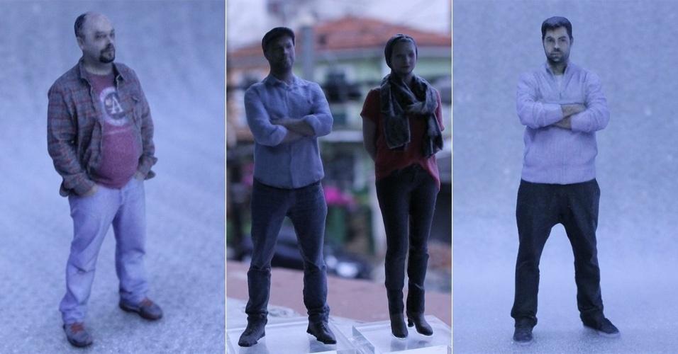 Criada em 2014, a empresa brasileira Avatoys aposta na impressão 3D para produzir avatares personalizados de 10 cm, 12 cm e 14 cm (os preços são R$ 150, R$ 200 e R$ 250). O primeiro quiosque da companhia será aberto em 21 de abril no Morumbi Shopping, em São Paulo. O cliente interessado precisa ir até o local tirar uma foto, em um processo que leva alguns segundos - a Avatoys diz ter desenvolvido esse processo de captura e processamento das imagens 3D. O prazo de entrega é de cinco dias úteis