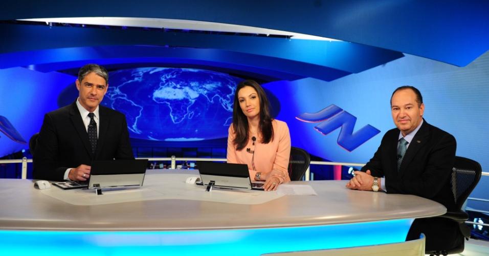 """19.ago.2014 - O candidato à Presidência pelo PSC, Pastor Everaldo, participa da série de entrevistas com os presidenciáveis do """"Jornal Nacional"""""""