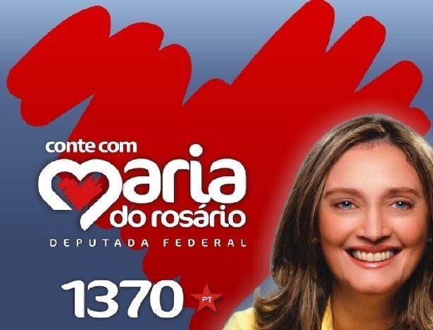 Maria do Rosário (PT-RS), candidata a deputada federal, exibe uma beleza madura do alto de seus 48 anos