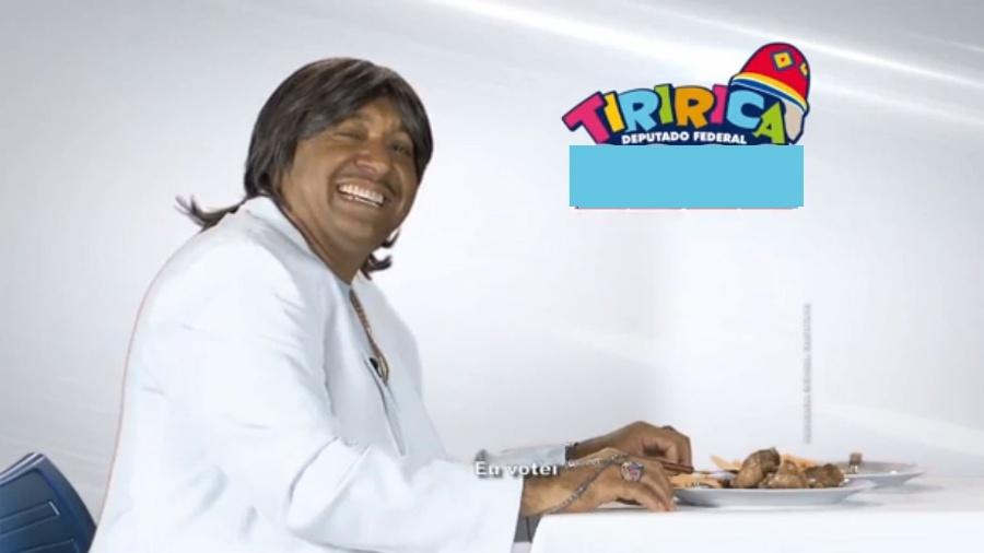 Tiririca faz paródia com Friboi e Roberto Carlos no horário eleitoral - Reprodução