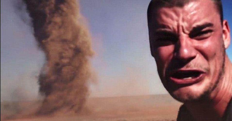 Um usuário do YouTube, identificado como Terry Tufferson, postou um vídeo em que supostamente há um selfie perigoso. Na filmagem, um homem teria se filmado ao lado de um tornado, na Austrália. Não há informações sobre quem aparece nas imagens. Alguns internautas questionaram a autenticidade do vídeo