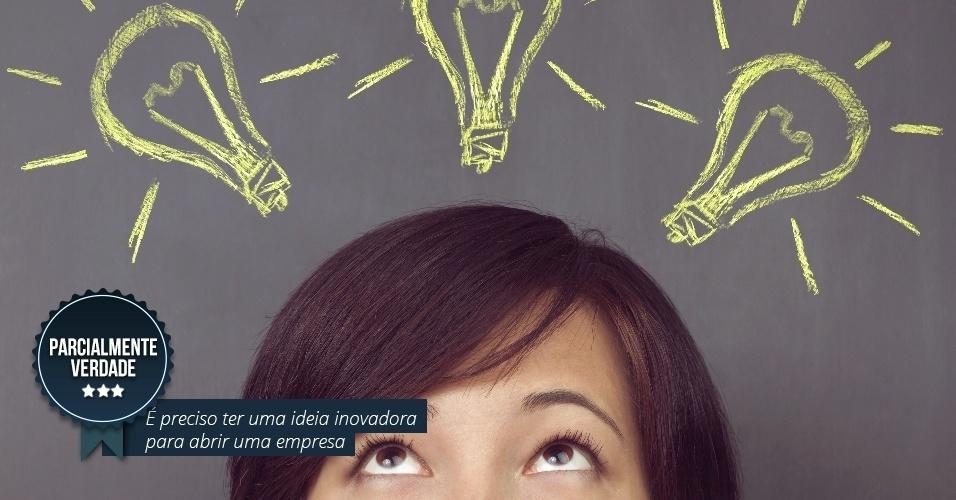 É preciso ter uma ideia inovadora para abrir uma empresa. PARCIALMENTE VERDADE