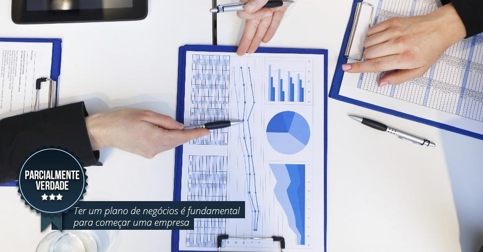 Ter um plano de negócios é fundamental para começar uma empresa. PARCIALMENTE VERDADE