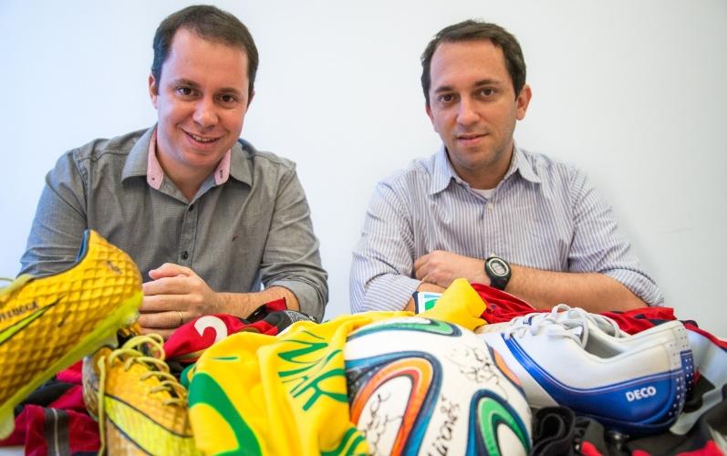 e8fe78654 Os sócios do site de leilão de artigos esportivos Bazar Sports Gustavo  Henrique de Souza (