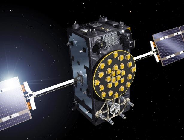 Engenheiros da ESA (Agência Espacial Europeia) tiveram dificuldade para recuperar os dois primeiros satélites em operação do sistema de navegação Galileu: falha na Souyz - ESA/Reprodução