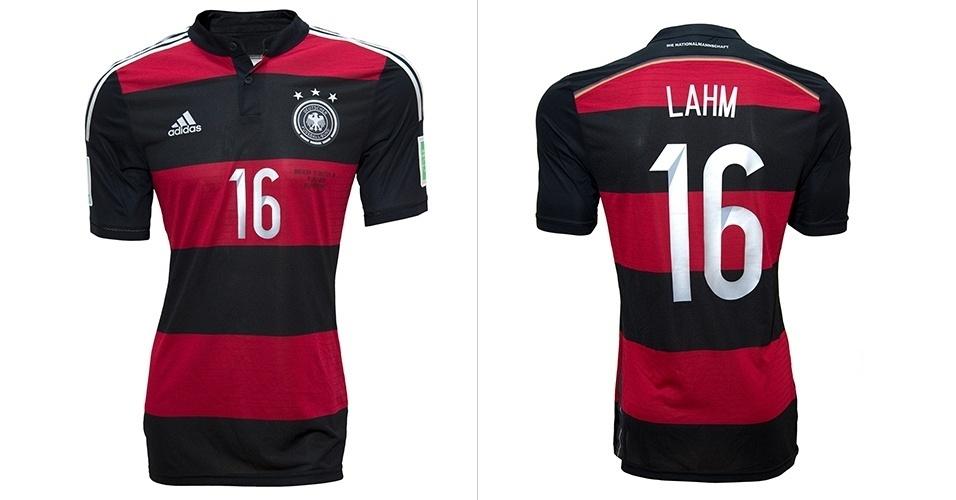 5f97760b0b5d2 Camisa da seleção da Alemanha usada pelo jogador Philipp Lahm é leiloada no  site Bazar Sports