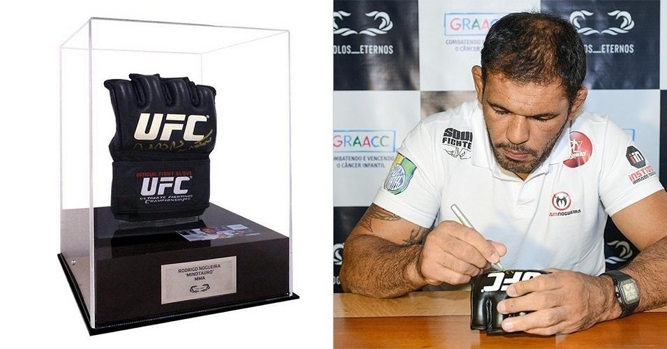 b0018fba4 Luva de MMA autografada pelo lutador Rodrigo Minotauro é leiloada pelo site  Ídolos Eternos