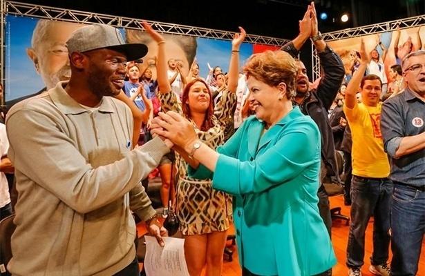 O rapper Rappin Hood participou de eventos com a candidata à reeleição pelo PT Dilma Rousseff e deve apoiá-la