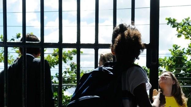 Saída escola no Rio de Janeiro