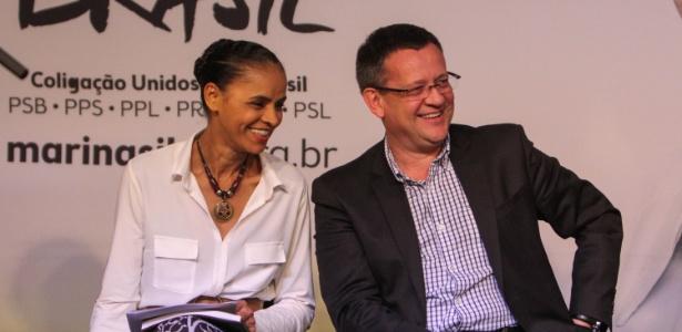Marina Silva e o vice Beto Albuquerque (PSB) lançam programa de governo em SP