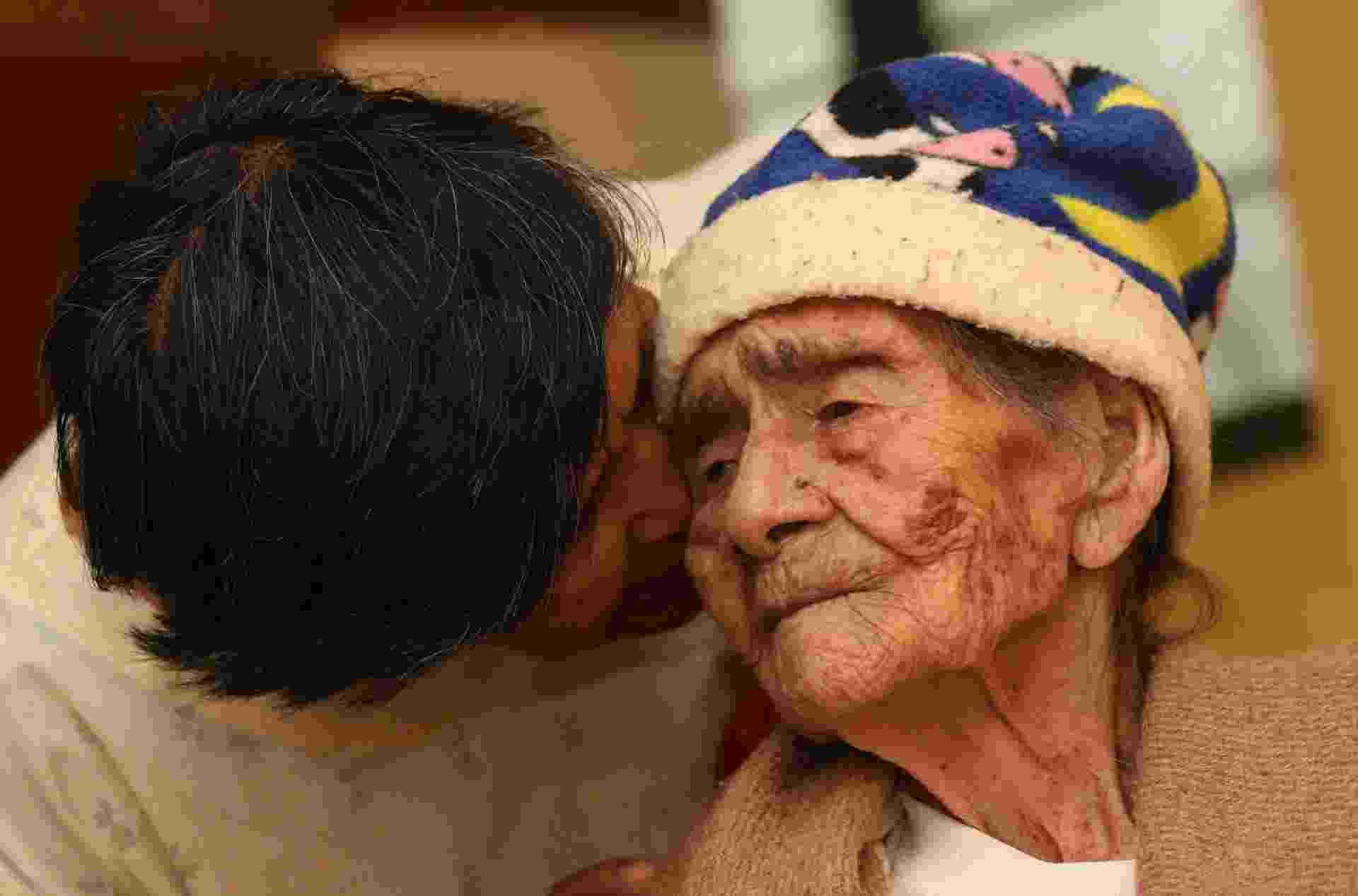 29.ago.2014 - A mexicana Leandra Becerra Lumbreras pode atingir, no próximo domingo (31), um recorde mundial: ela fará 127 anos e pode se tornar a pessoa mais velha do mundo, caso a marca seja reconhecida - Ulises Ruíz Basurto/EFE