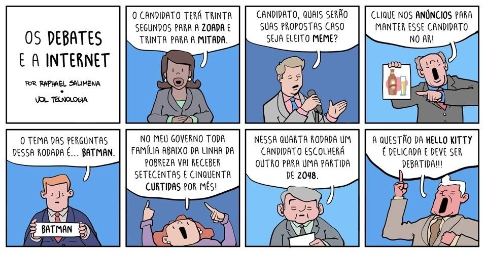 """30.ago.2014 - """"'Os debates e a internet'"""