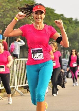 Camila Serakides durante corrida de rua - Arquivo pessoal