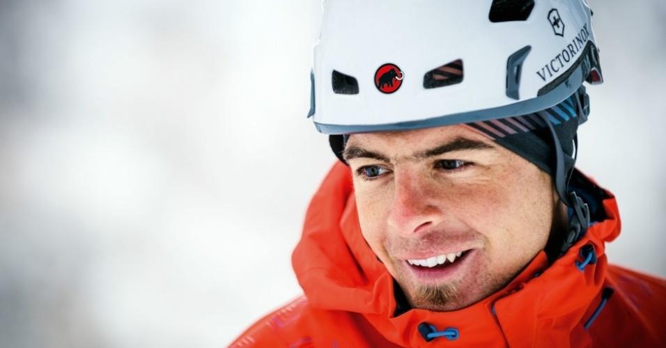 1º.set.2014 - Dani Arnold é um famoso escalador suíço que, em 2011, subiu os 3.970 metros de altura da montanha Eiger, nos Alpes Suíços, em um tempo recorde de 2 horas e 28 minutos
