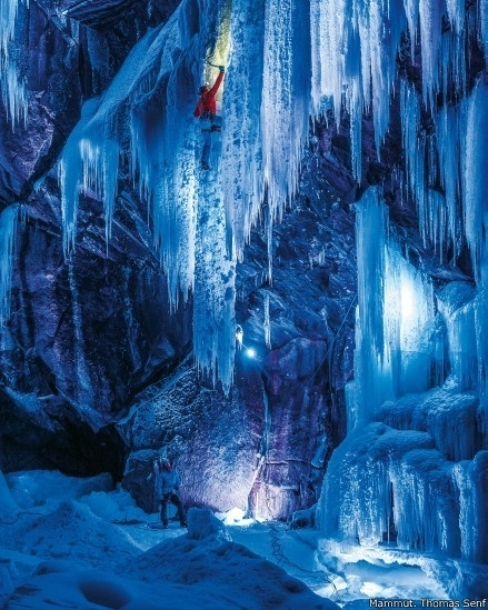 1º.set.2014 - Os numerosos cânions e fendas de Eidsfjord formam algumas das maiores e mais complicadas rotas de escalada no gelo do mundo