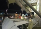 Parte do teto do Aeroporto de Cuiabá desaba sob entrada do terminal - Reprodução/whatsapp