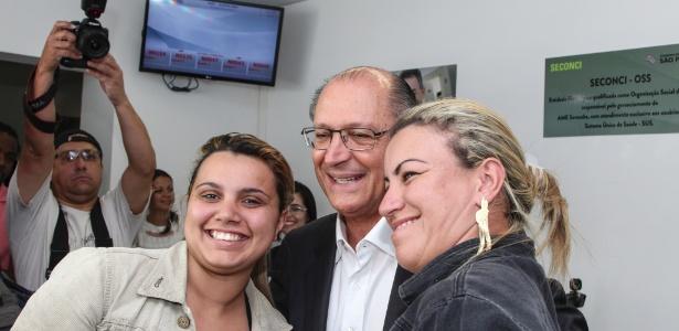 Geraldo Alckmin durante campanha à reeleição, em 2014
