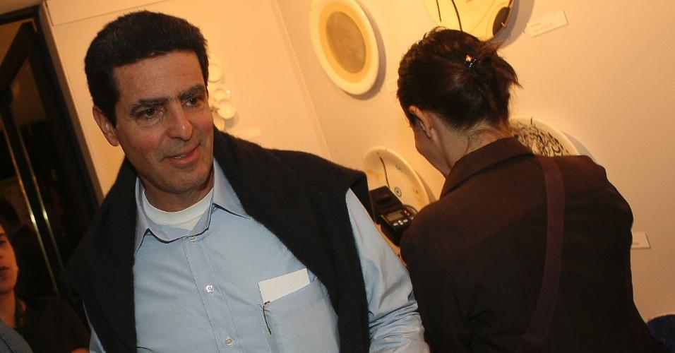 O empresário Daniel Feffer na abertura do 18º Salão de Artes, no clube A Hebraica, em São Paulo (SP)