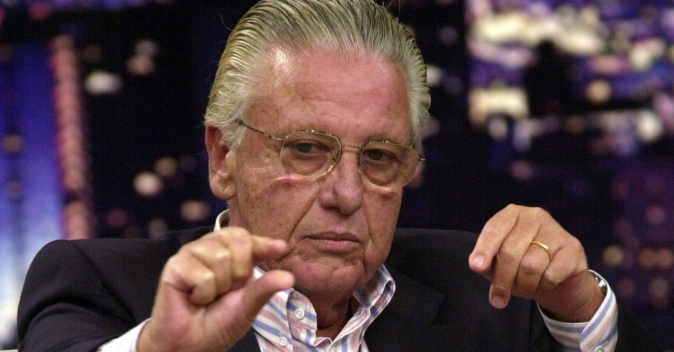 "O empresário Júlio Bozano durante entrevista no ""Programa do Jô"" na Rede Globo."