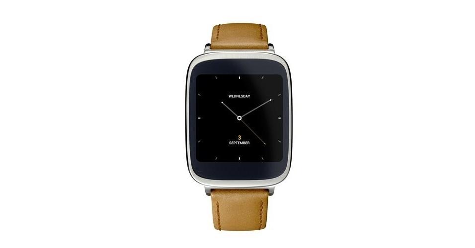 3.set.2014 - A Asus mostrou o primeiro relógio inteligente, o ZenWatch. Ele roda Android Wear, sistema operacional do Google para dispositivos vestíveis.