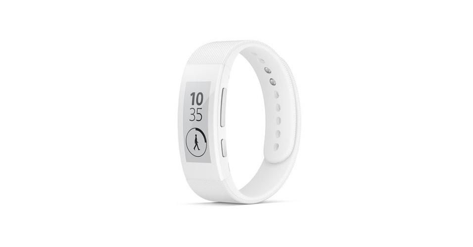 3.set.2014 - Outra novidade da Sony é a SmartBand Talk, que une a pulseira fitness SmartBand a uma tela simples de 288×128 pixels. Com Android 4.4, ela funciona como tanto como relógio como acessório para exercícios físicos (junto com o app Lifelog)