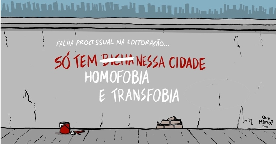 4.set.2014 - O chargista Que Mário? ironiza a campanha da candidata à Presidência da República pelo PSB, Marina Silva, que eliminou trechos de capítulo 'LGBT' do programa de governo