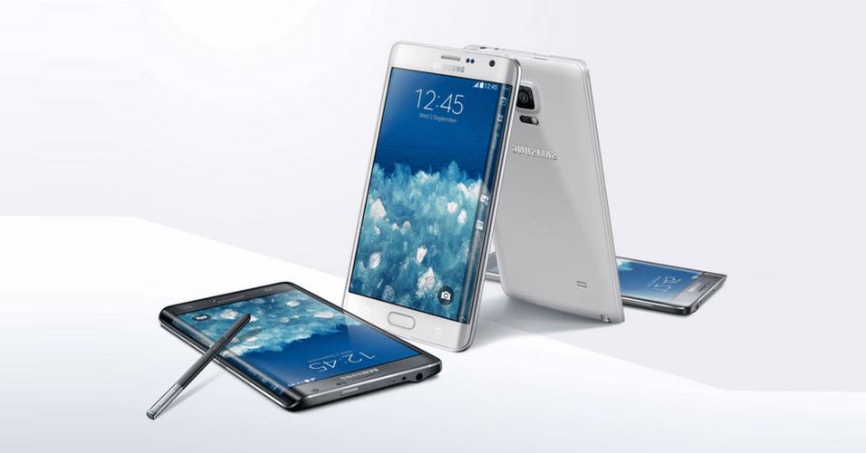 'Primo' do Galaxy Note 4, o Galaxy Note Edge é uma das novidades lançadas pela Samsung nesta quarta-feira (03). O phablet conta com uma tela de 5,6 polegadas e se destaca por ter uma tela curva. A curvatura na tela pode ser utilizada como uma 'faixa' de notificações de mensagens ou como atalho para aplicativos. O aparelho conta com uma caneta 'stillus' e pode ter capacidade de armazenamento de 32 GB ou 64 GB