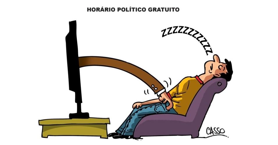 8.set.2014 - O chargista Casso brinca com o horário eleitoral gratuito no rádio e na TV