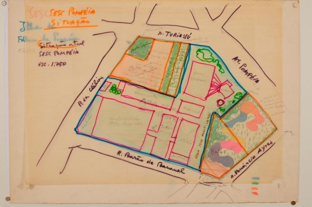 Sesc Pompeia desenho -