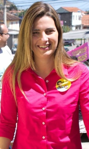 Clarissa Garotinho, candidata a deputada federal pelo PR do Rio de Janeiro. Ela é filha do candidato a governador Anthony Garotinho
