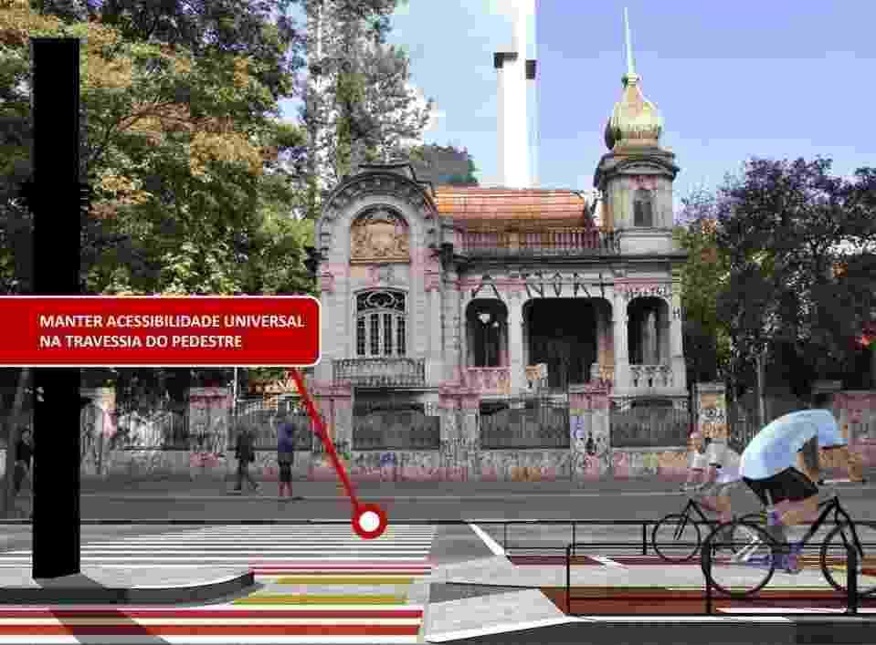 9.set.2014 - A Prefeitura de São Paulo anunciou a construção de uma ciclovia na avenida Paulista. A via exclusiva para bicicleta ficará no canteiro central de um dos cartões postais da cidade - Prefeitura de São Paulo/Divulgação