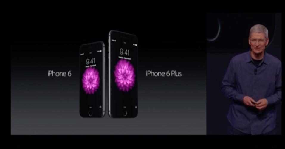 9.set.2014 - Em evento na Califórnia, a Apple apresentou os novos produtos iPhone 6 e iPhone 6 Plus