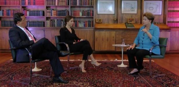 A candidata à reeleição, Dilma Rousseff (PT), concedeu entrevista à Rede TV!