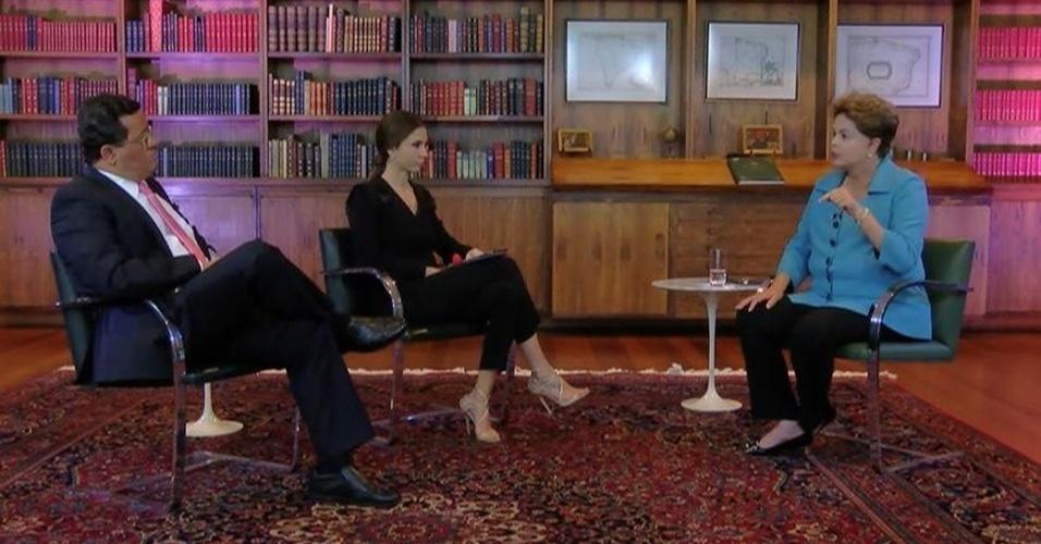 11.set.2014 - A presidente e candidata à reeleição, Dilma Rousseff (PT), concedeu entrevista à Rede TV e ao iG. A candidata afirmou que, no caso de um segundo mandat, vai manter seus critérios de escolha da diretoria da Petrobras, alvo de denúncias de corrupção