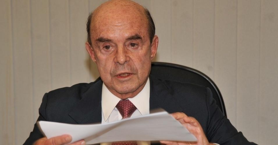 O senador Francisco Dornelles (PP-RJ) é candidato a vice-governador na chapa de Luiz Fernando Pezão (PMDB), atual chefe do Executivo fluminense e concorrente à reeleição