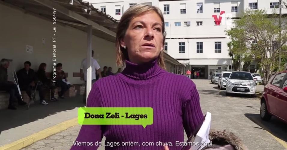 """Propaganda de Cláudio Vignatti, candidato do PT ao Governo de Santa Catarina, 1º de setembro: """"Viemos de Lages 'ontém'"""". Mais um acento que sobrou; o correto é 'ontem'"""